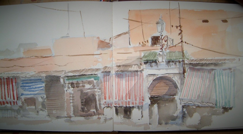 Marrakech/aquarelle